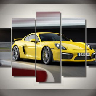 5 Panels Sport Car Multi Piece Framed Canvas Art Poster Print