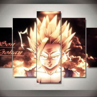 5 Panels Son Gohan Multi Piece Framed Canvas Art Poster Print