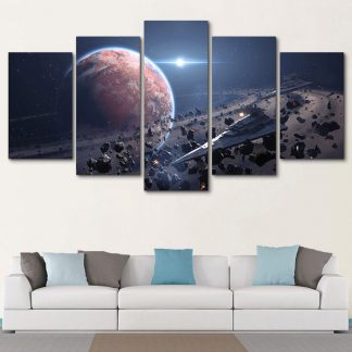 5 Panels Star Destroyer Multi Piece Framed Canvas Art Poster Print
