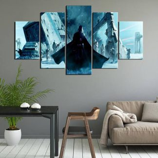 5 Panels Darth Vaider Multi Piece Framed Canvas Art Poster Print