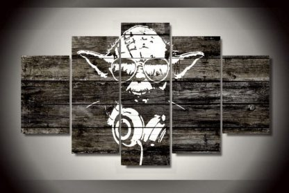 5 Panels Yoda Multi Piece Framed Canvas Art Poster Print