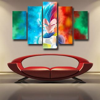 5 Panels Vegeta Multi Piece Framed Canvas Art Poster Print