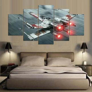5 Panels X wing Starfighter Multi Piece Framed Canvas Art Poster Print
