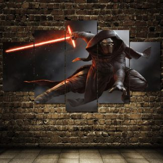5 Panels Kylo Ren Multi Piece Framed Canvas Art