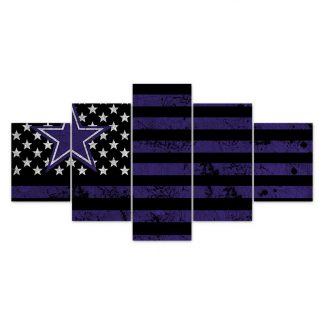 5 Panels NFL Dallas Cowboys Multi Piece Framed Canvas Art Poster Print