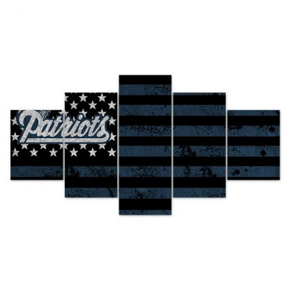5 Panels NFL New England Patriots Multi Piece Framed Canvas Art Poster Print
