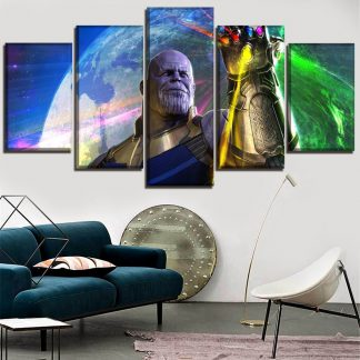 5 Panels Thanos Multi Piece Framed Canvas Art