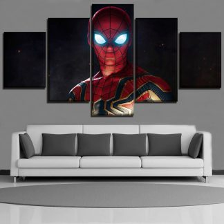5 Panels Spider Man Multi Piece Framed Canvas Art