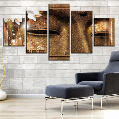 5 Panels Closeup Buddha Eye Multi Piece Framed Canvas Art Poster Print