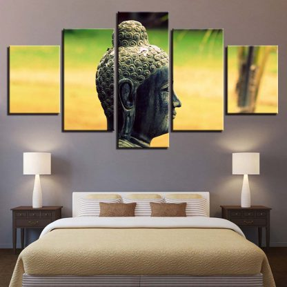 5 Panels Buddha Sideview Multi Piece Framed Canvas Art Poster Print