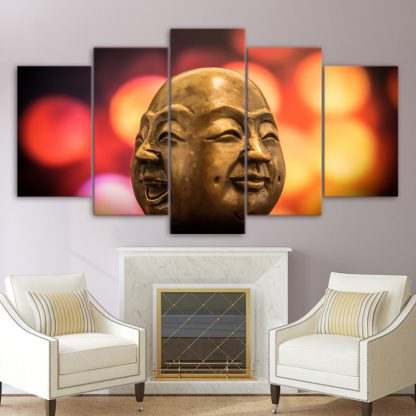 5 Panels Two-Faced Monk Multi Piece Framed Canvas Art Poster Print