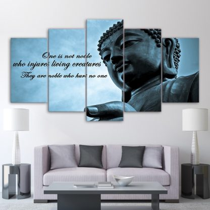 5 Panels Buddha Quote Multi Piece Framed Canvas Art Poster Print