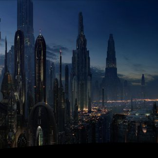 1 Panel Night Life In Coruscant Multi Canvas Art