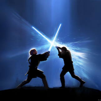 1 Panel Anakin Vs Obi Wan Multi Canvas Art
