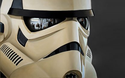Vigilant Stormtrooper Poster Print Framed Canvas Art