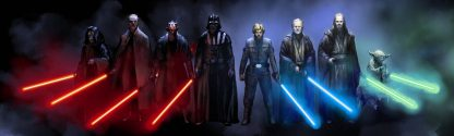 Jedi Knights VS Sith Lords Poster Print Framed Canvas Art
