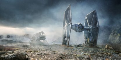 1 Panel TIE Fighter In Battle Multi Canvas Art