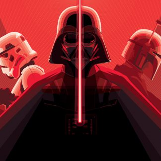 Dark Side Trio Poster Print Framed Canvas Art