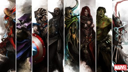 1 Panel Avengers Fan Art Multi Canvas Art