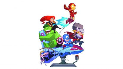 1 Panel Avengers Cartoon Multi Canvas Art