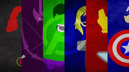 1 Panel Avengers Minimal Art Design Multi Canvas Art