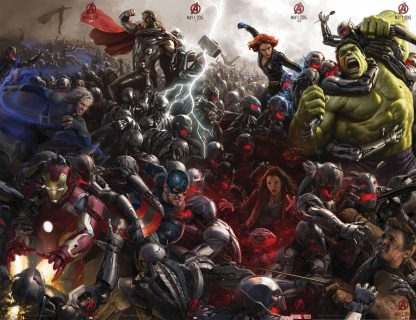 1 Panel Age Of Ultron Battle Multi Canvas Art