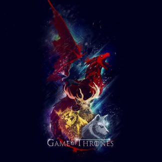 1 Panel Five Main Houses In Game Of Thrones Multi Canvas Art