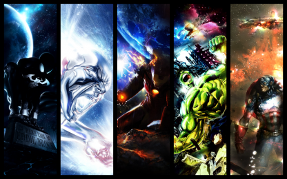 1 Panel Avengers Banner Multi Canvas Art