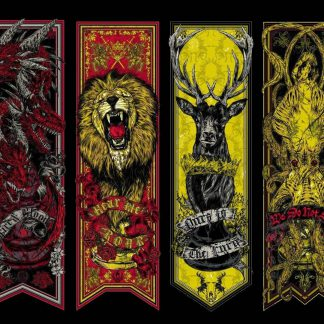 1 Panel Game Of Thrones House Banners Multi Canvas Art