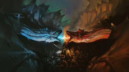 1 Panel Ice vs Fire Multi Canvas Art