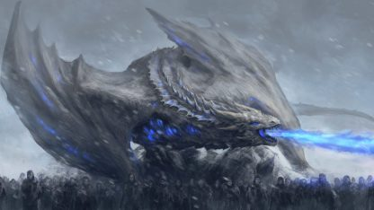 1 Panel White Walkers In Action Multi Canvas Art