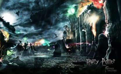 1 Panel Battle at Hogwarts Multi Canvas Art