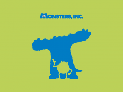 1 Panel Monsters, INC Multi Canvas Art