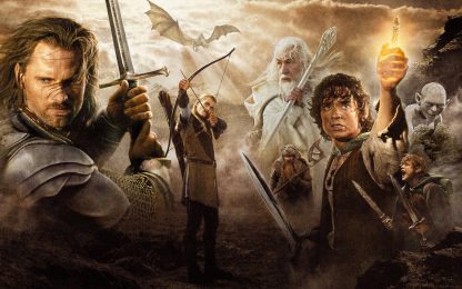 1 Panel Heroes of LOTR Multi Canvas Art