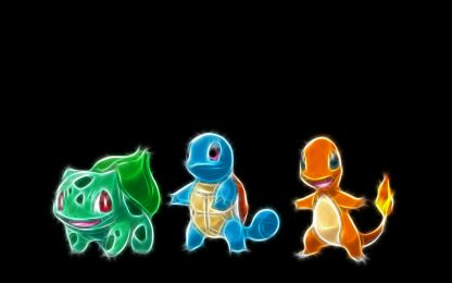 1 Panel Charmander Squirtle and Bulbasaur Multi Canvas Art