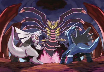 1 Panel Giratina Vs. Palkia and Dialga Multi Canvas Art