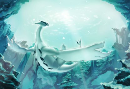 1 Panel Underwater Lugia Multi Canvas Art