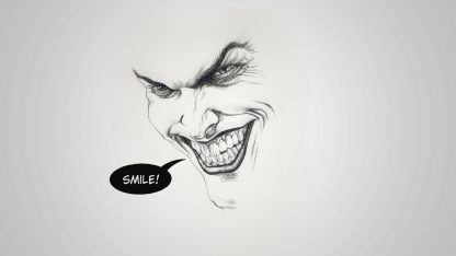 1 Panel Joker Sketch Multi Canvas Art
