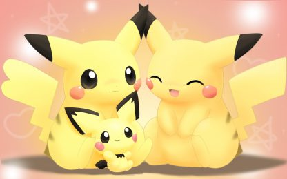 1 Panel Pikachu family Multi Canvas Art