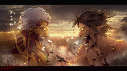 1 Panel Reiner vs. Eren Multi Canvas Art