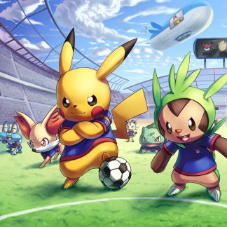 1 Panel Pokemon playing football Multi Canvas Art