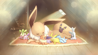 1 Panel Eevee and her forms Multi Canvas Art