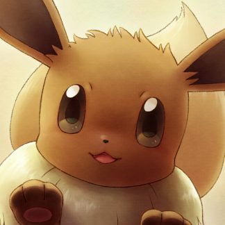 1 Panel Cute Eevee Multi Canvas Art