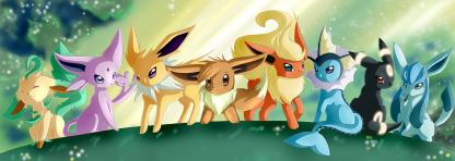 1 Panel Evolution of Eevee Multi Canvas Art