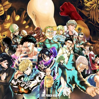 1 Panel One Punch Man Character Collage Multi Canvas Art