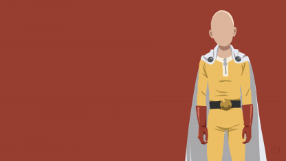 1 Panel Saitama - Minimalist Art Multi Canvas Art