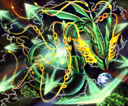 1 Panel Mega Rayquaza Multi Canvas Art