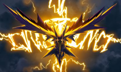 1 Panel Lightening Zapdos Multi Canvas Art