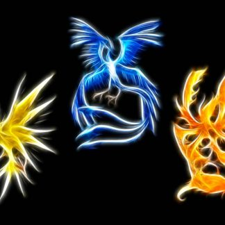 1 Panel Three Mystical Pokemon Multi Canvas Art