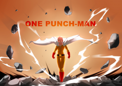 1 Panel Saitama Fan Art Multi Canvas Art